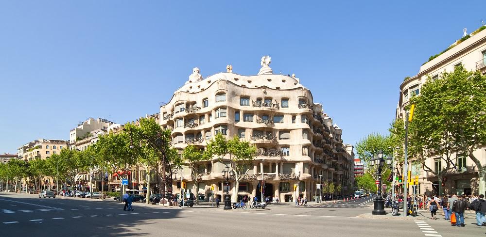 Casa Mila (La Pedrera) built in 1905–1910 by Catalan architect Antoni Gaudi
